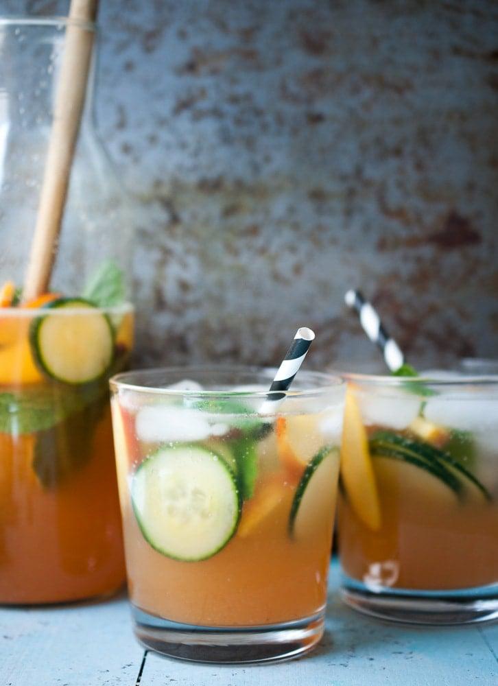 Sparkling Peach & Cucumber Lemonade_-6