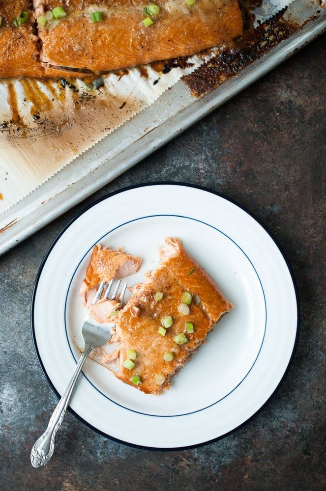 Baked Butter Salmon