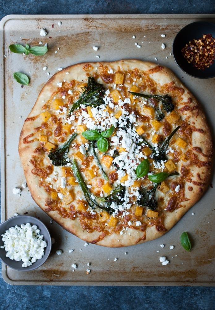 Butternut Squash & Broccolini Pizza