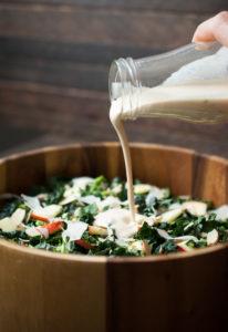 Chopped Kale & Broccolini Salad w/ Lemon Tahini Dressing