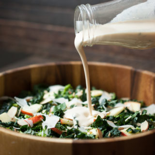 Chopped Kale & Broccolini Salad w/ Lemon Tahini Dressing