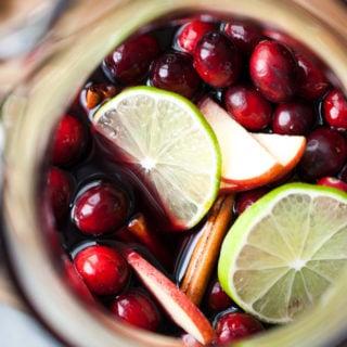 Cranberry Apple Persimmon Sangria