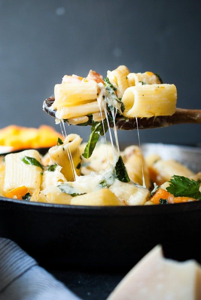 Butternut Squash Skillet Pasta