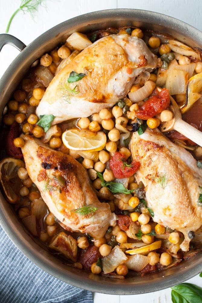 Roast-Chicken-with-Fennel-Garbanzo-Beans-Tomatoes