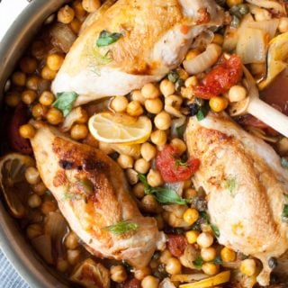 Chicken with Fennel Garbanzo Beans & Tomatoes