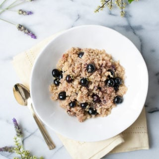 Coconut Cherry Blueberry Quinoa