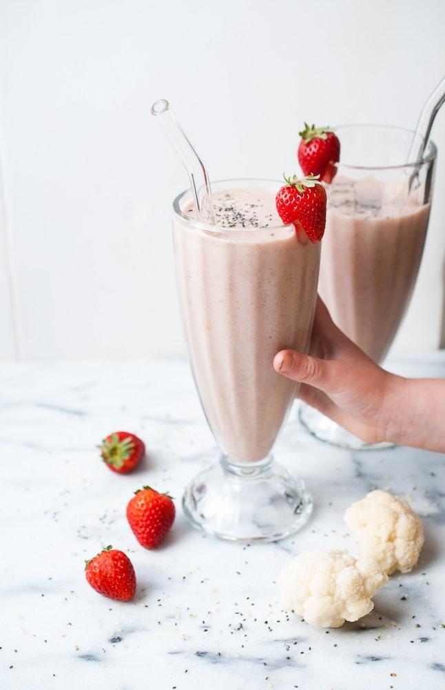 Strawberry Cauliflower Smoothie