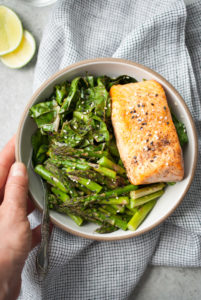 Easy Broiled Salmon Bowl