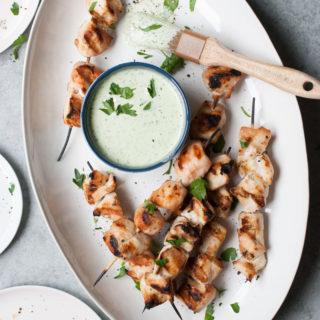 Feta Brined Chicken Kabobs