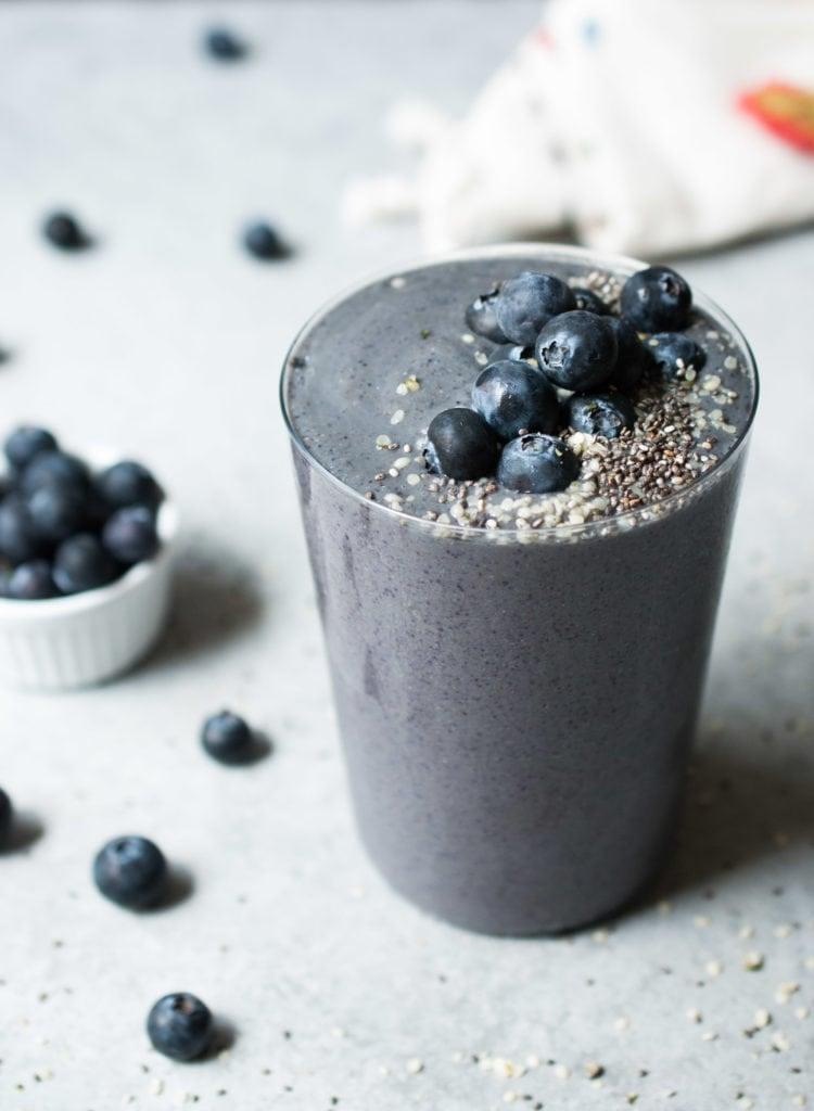 Wild Blueberry Zucchini Smoothie