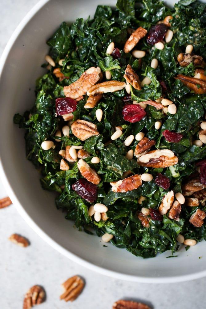 Chopped Kale Salad w/ Herb Dressing