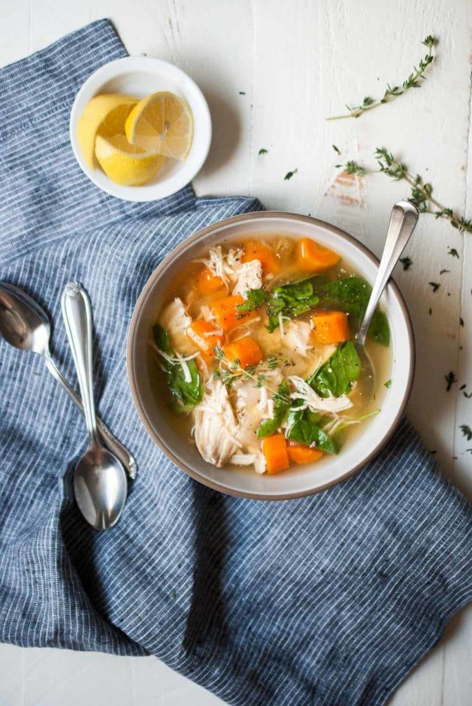 Instant Pot Lemon Chicken Soup