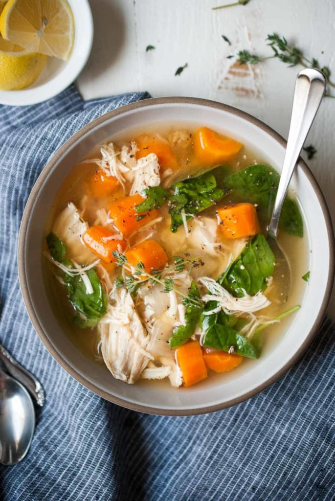 Instant Pot Lemon Chicken Soup