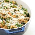 Loaded Spinach Quinoa Casserole