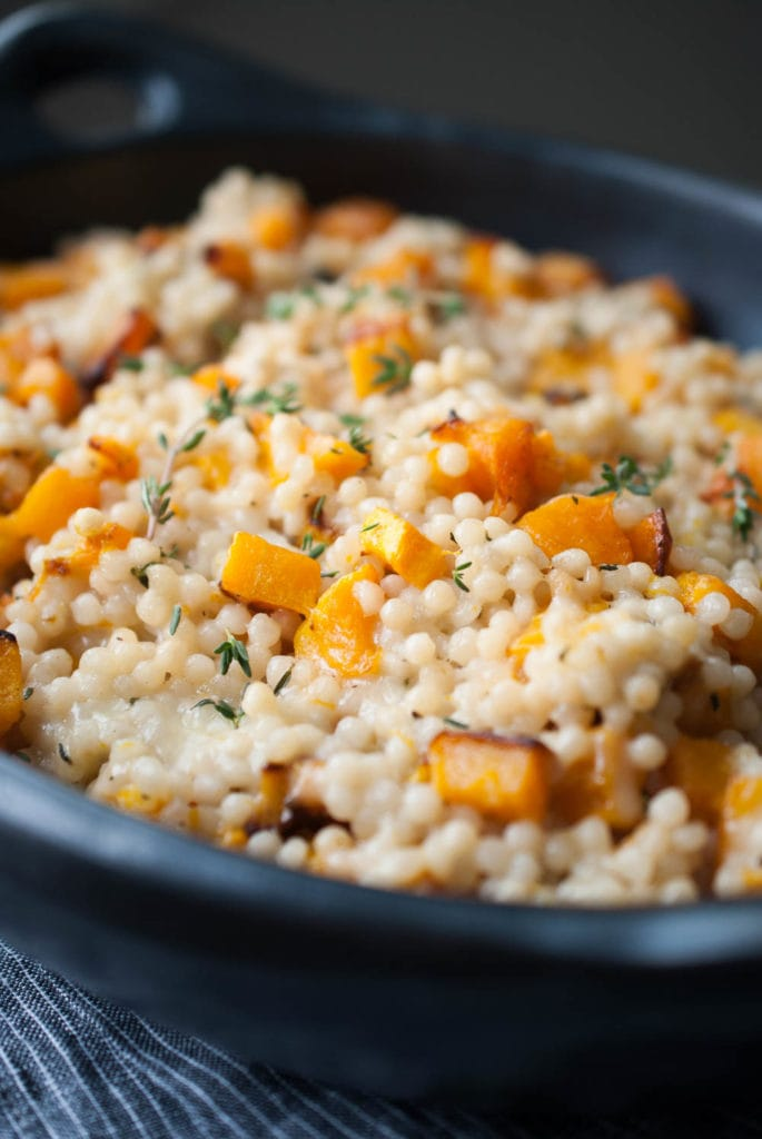Cheesy Roasted Butternut Squash Couscous Casserole