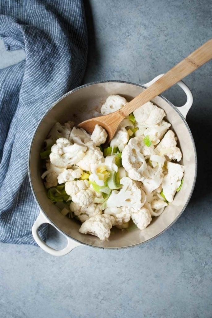 Golden Cauliflower Leek Soup | Life is but a Dish