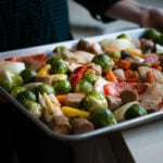 Sheet Pan Lemony Roasted Sausage & Veggies