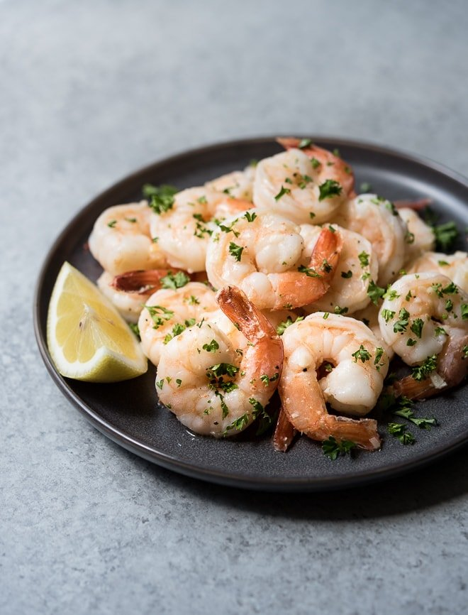 15 Minute Garlic Lemon Shrimp