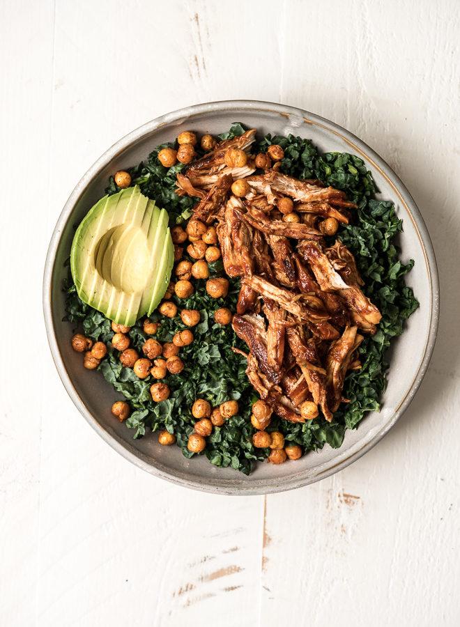 BBQ Chicken Kale Salad