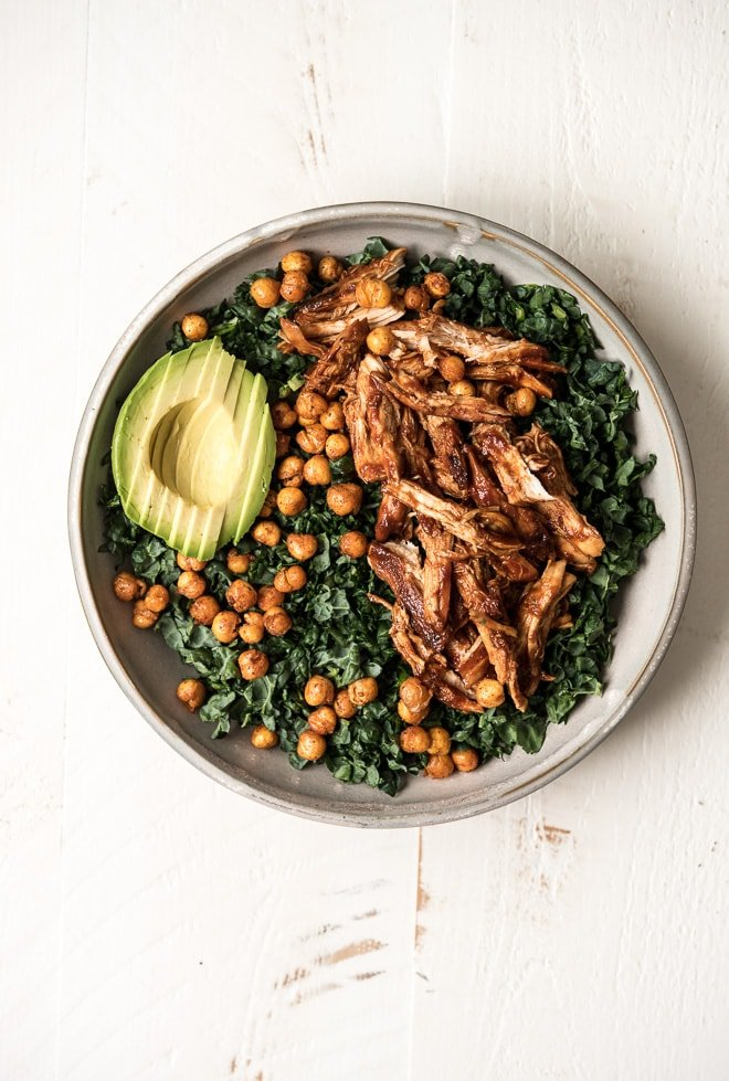 BBQ Chicken Kale Salad