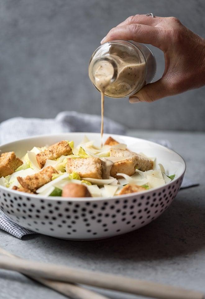 Caesar Salad w- Homemade Dressing