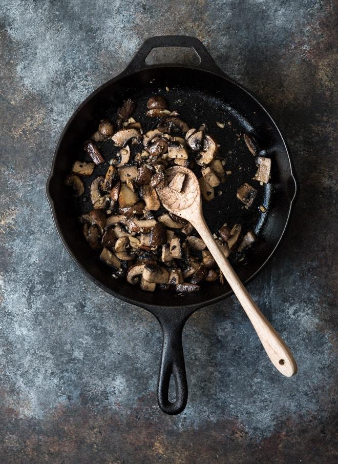 Garlicky Sautéed Mushrooms