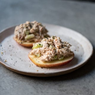 Open Faced Tuna Apple Sandwich