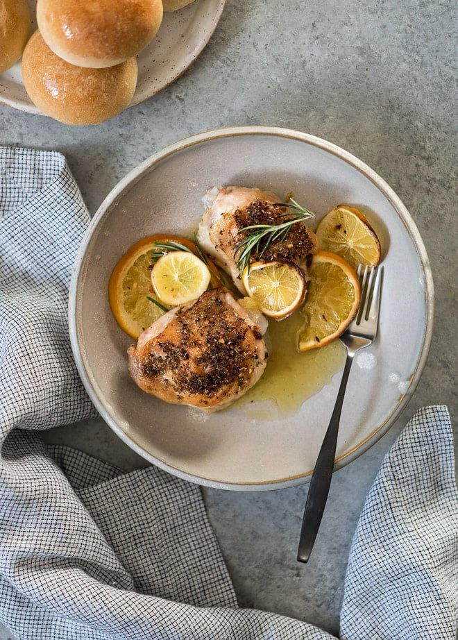 Citrus Baked Chicken Thighs