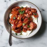 Oven Roasted Tomatoes & Burrata