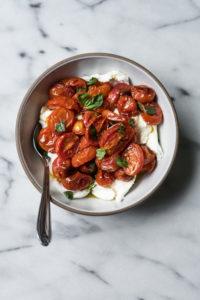 Oven Roasted Tomatoes & Burrata