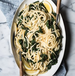 Lemony Pasta with Kale and Parmesan