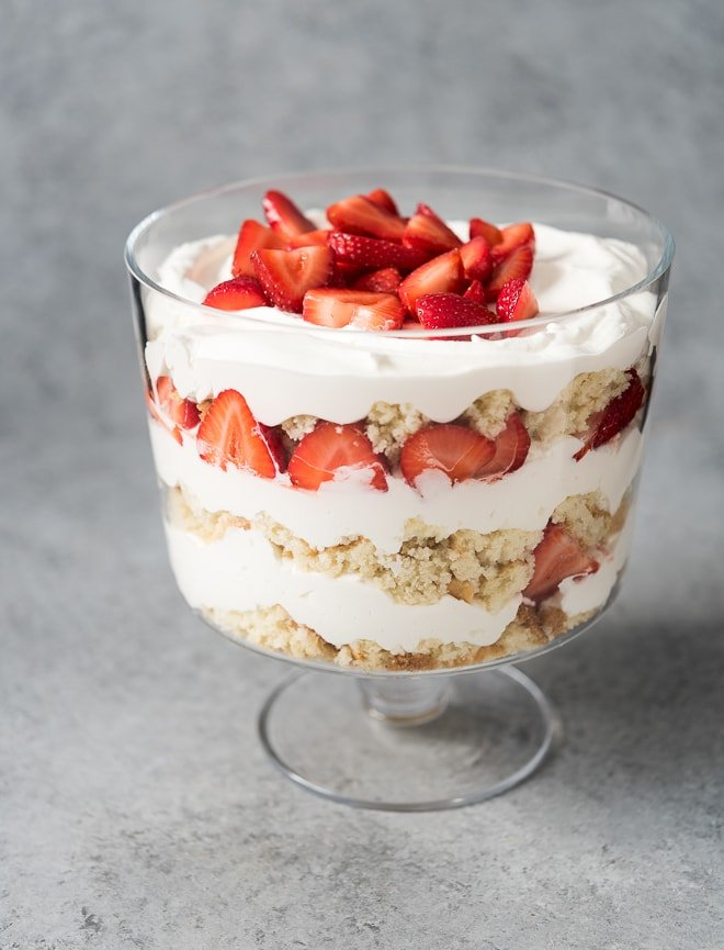 Strawberry Shortcake Trifle