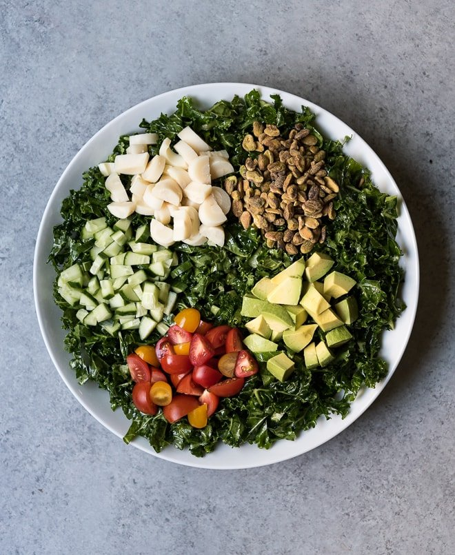 massaged kale salad