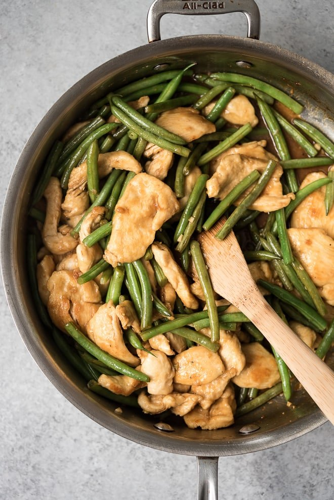Skillet Chicken & Green Beans