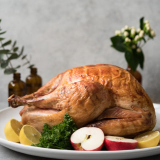 Simple Oven Roasted Turkey with Gravy
