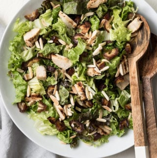 grilled chicken, date, & almond salad