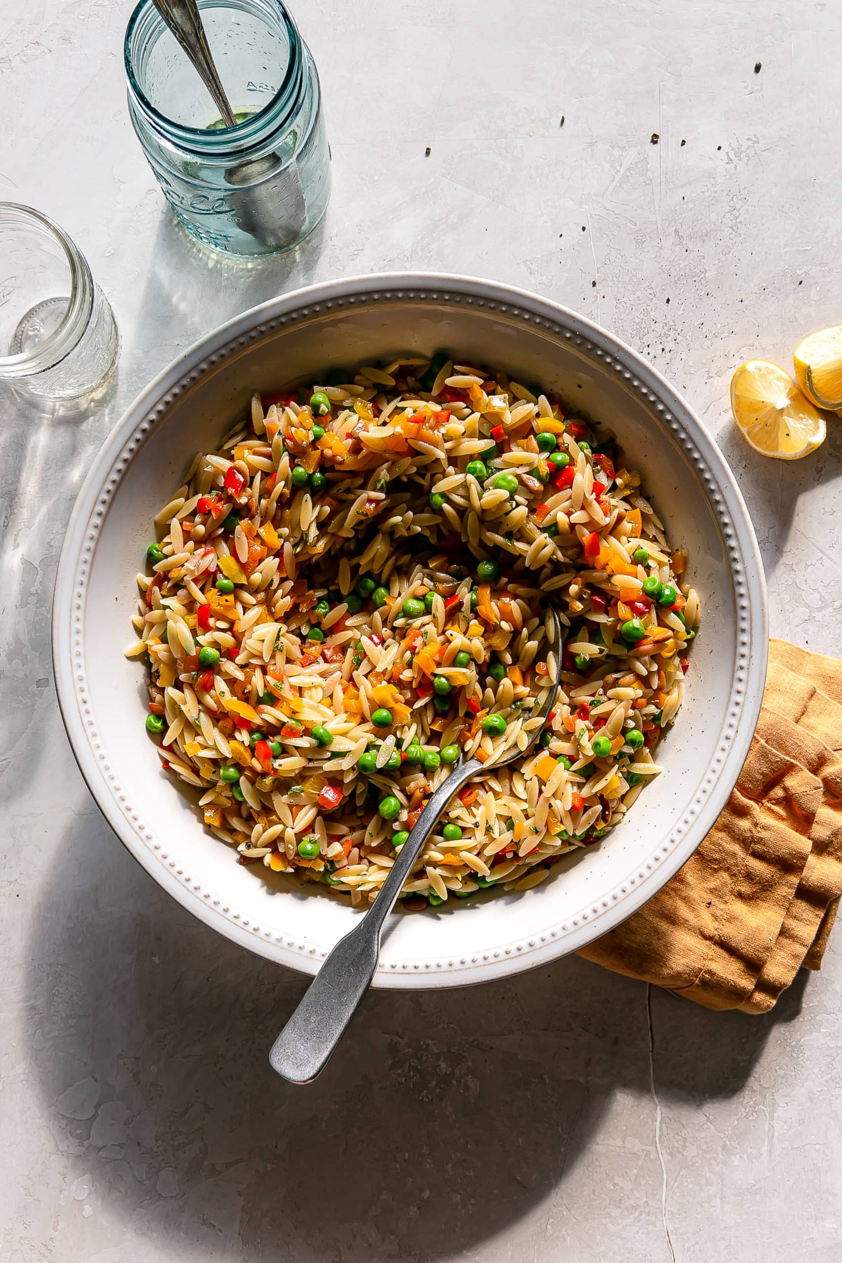 roasted veggie orzo salad