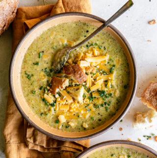Healthier Broccoli Cheddar Soup