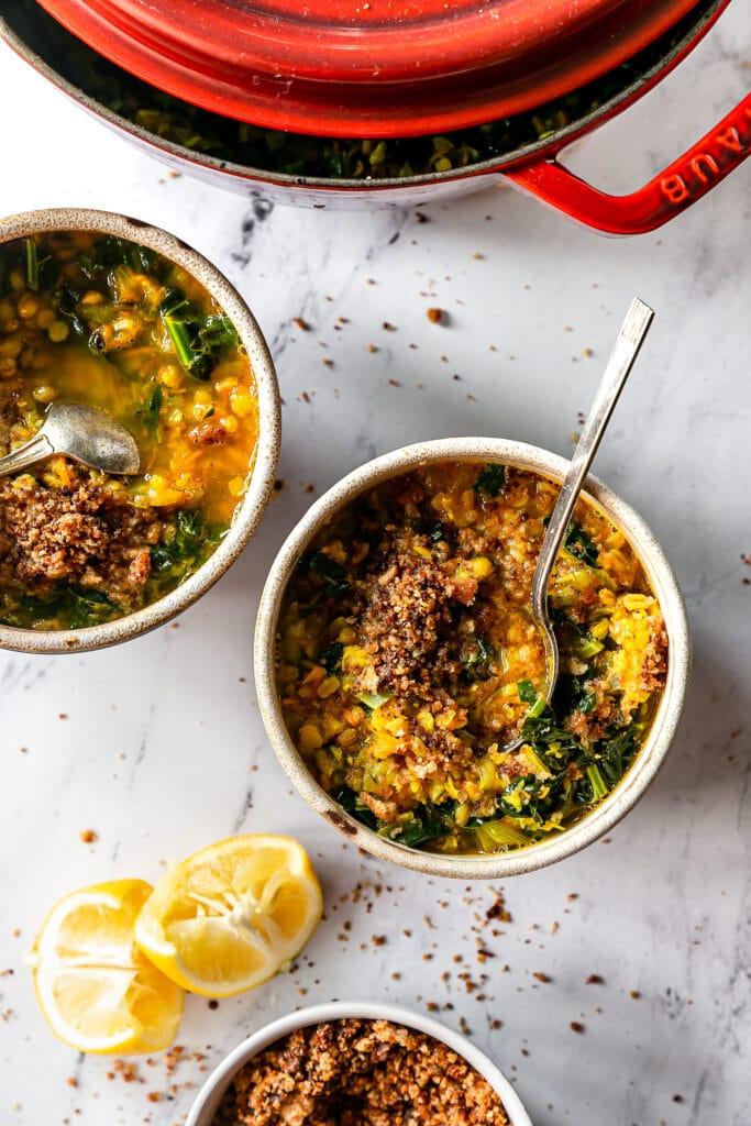 Healing Turmeric Lentil & Farro Soup