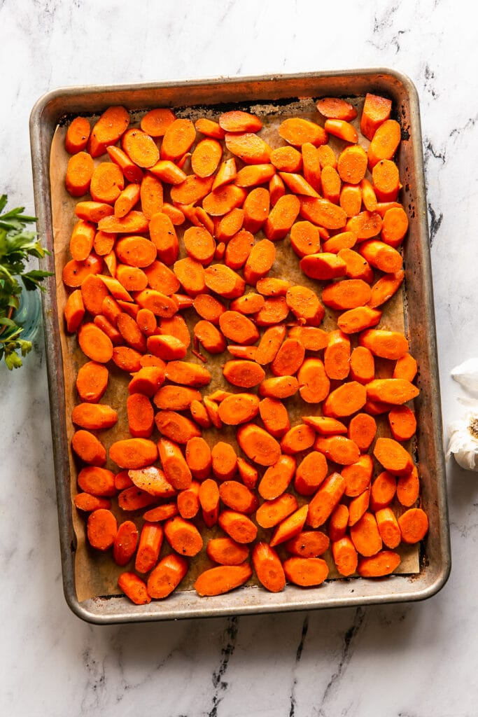 Cumin Roasted Carrots with Garlic Butter